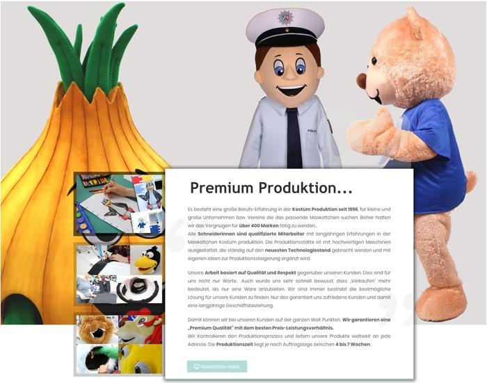 Shop-Maskottchen-Produktion-Kostüm