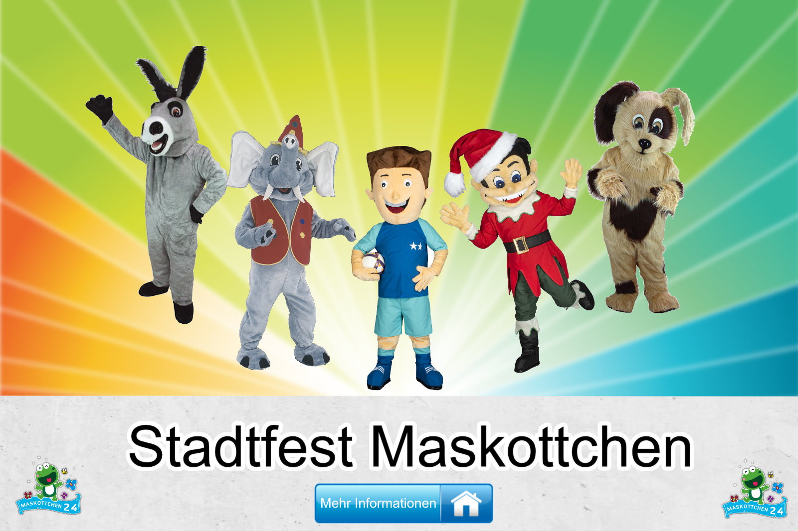 Stadtfest Kostüme Maskottchen Herstellung Firma günstig kaufen